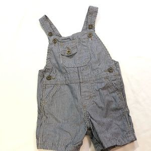 WRANGLER RAIL ROAD STRIPED  BIBS SHORTALLS
